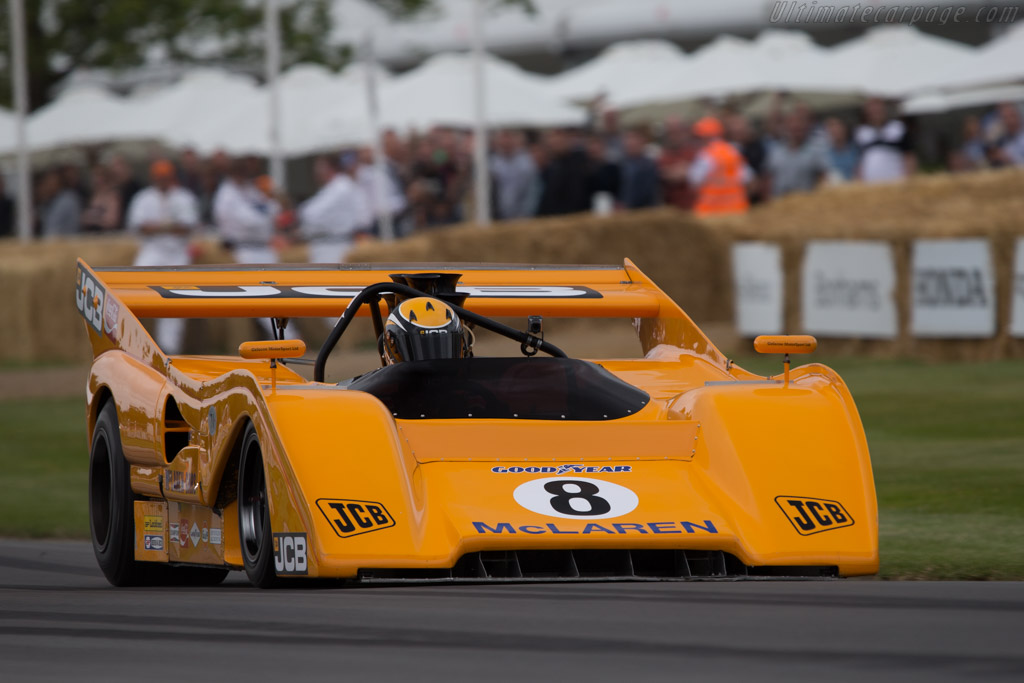 McLaren M8FP Chevrolet  - Entrant: Anthony Bamford - Driver: Andrew Newall  - 2014 Goodwood Festival of Speed