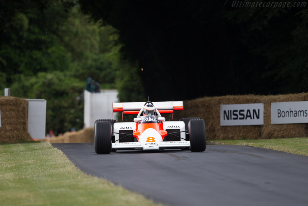 McLaren MP4/2 Porsche - Chassis: MP4/2-1 - Entrant: Mclaren International - Driver: Stoffel Vandoorne  - 2014 Goodwood Festival of Speed