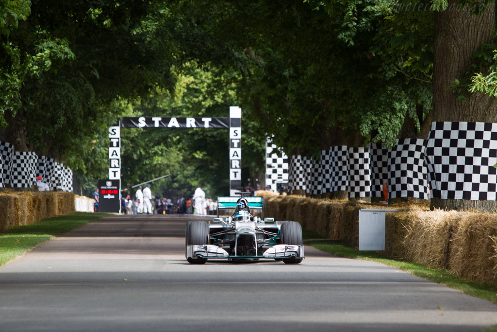 Mercedes-Benz W03  - Driver: Anthony Davidson  - 2014 Goodwood Festival of Speed