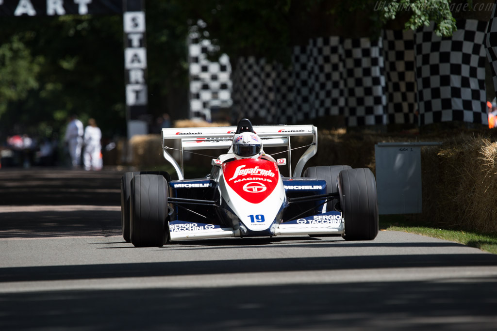 Toleman TG184 Hart - Chassis: TG184-01 - Driver: David Alston  - 2014 Goodwood Festival of Speed