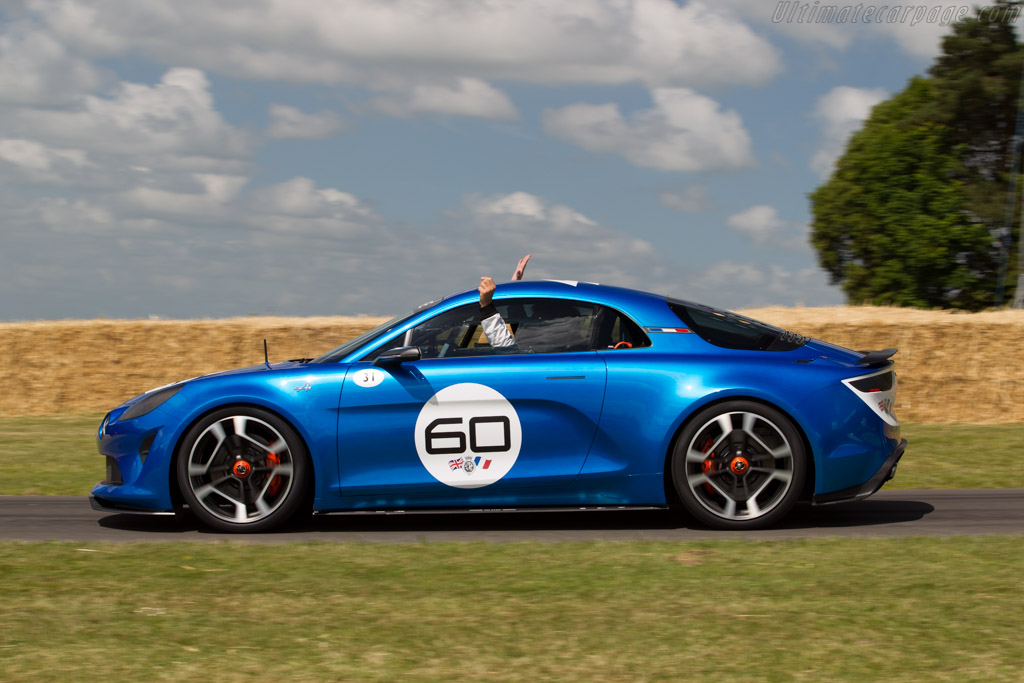 Alpine Celebration Coupe  - Entrant: Alpine - Driver: Laurent Hurgon  - 2015 Goodwood Festival of Speed