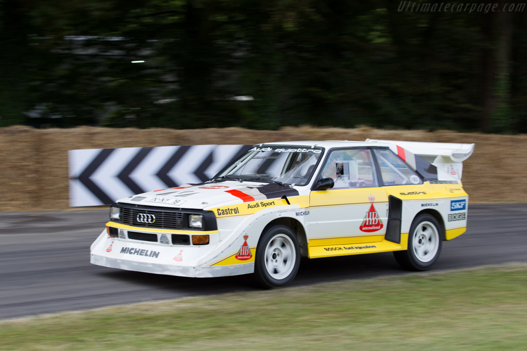 Audi Sport Quattro S1 E2 - Chassis: 85ZGA905002 - Entrant: Audi UK - Driver: Hannu Mikkola  - 2015 Goodwood Festival of Speed