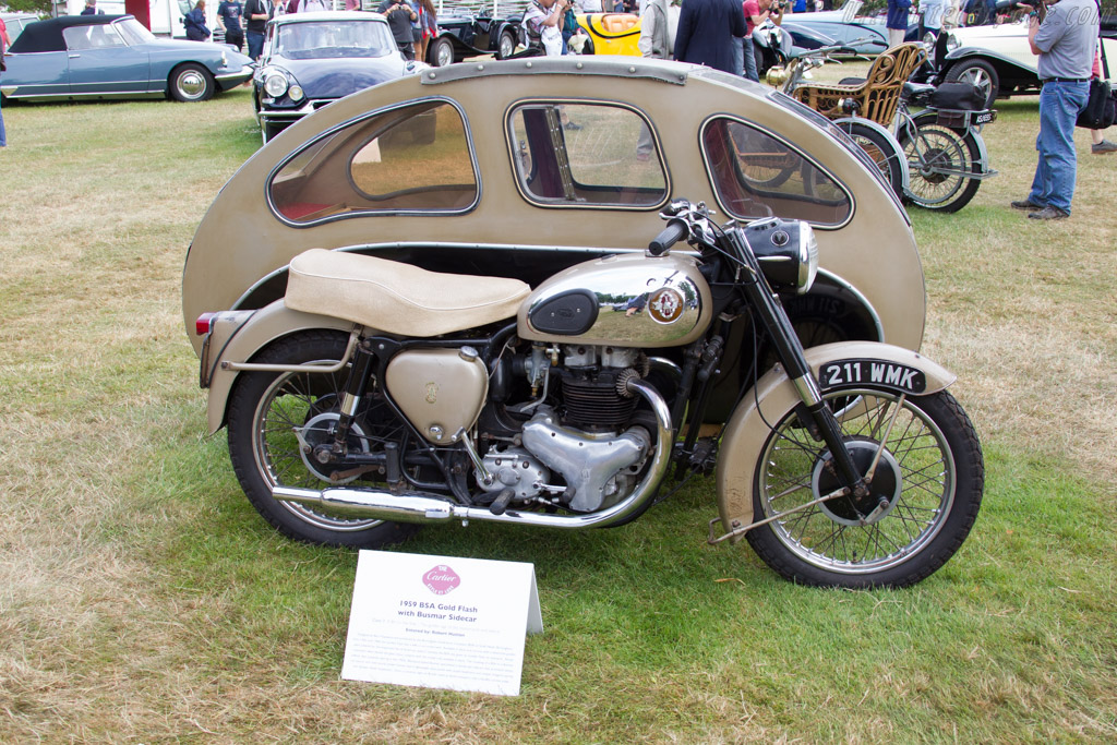 BSA Gold Flash with Busmar Sidecar    - 2015 Goodwood Festival of Speed