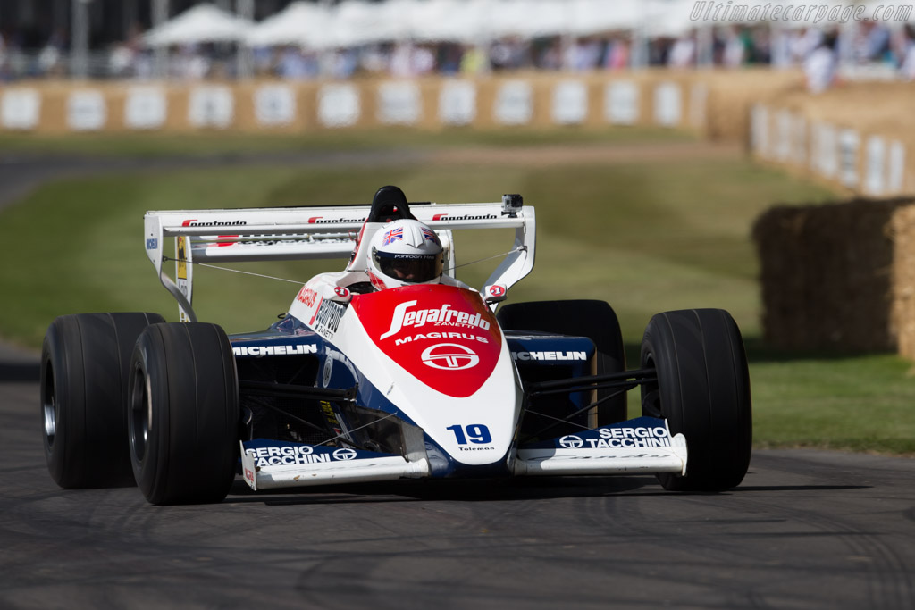 Toleman TG184 Hart - Chassis: TG184-01 - Entrant: Alstons Upholstery - Driver: Alastair Davidson  - 2015 Goodwood Festival of Speed