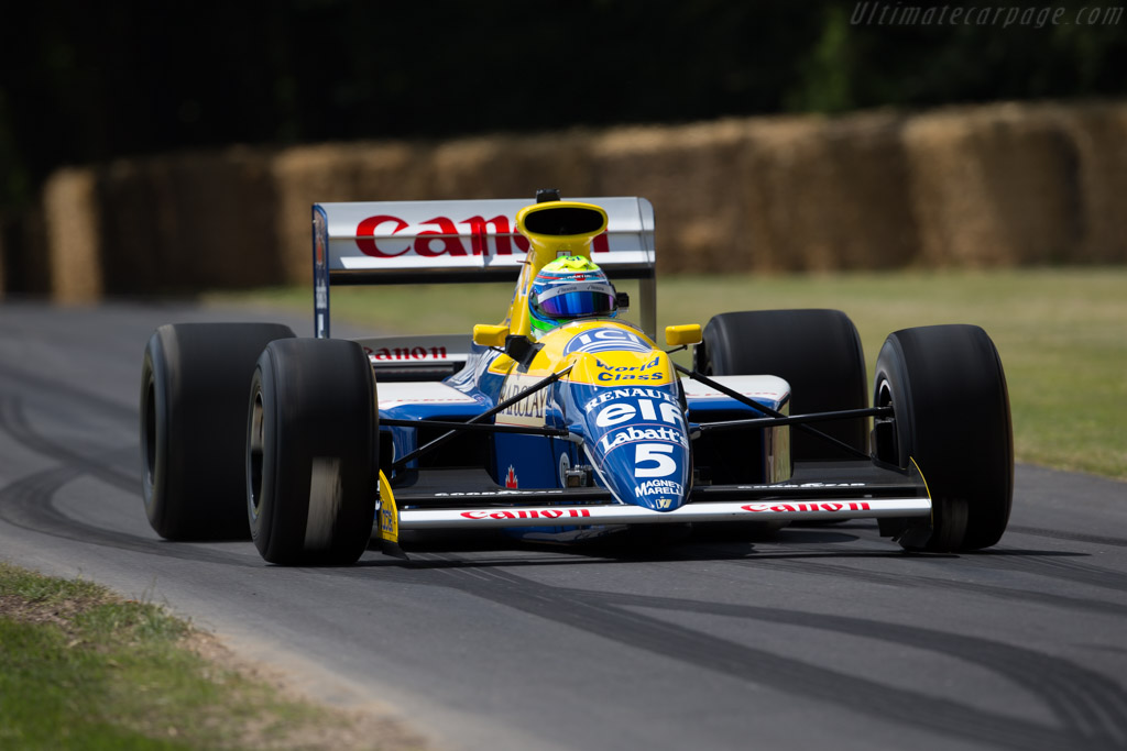 Williams FW13B Renault - Chassis: FW13-08 - Entrant: Williams F1 - Driver: Felipe Massa  - 2015 Goodwood Festival of Speed