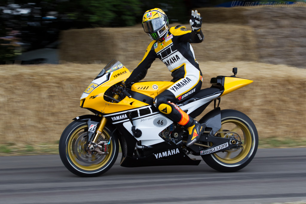 Yamaha YZR-M1  - Driver: Valentino Rossi  - 2015 Goodwood Festival of Speed