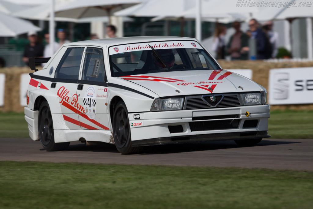 Alfa Romeo 75 Turbo Evoluzione  - Entrant: Scuderia del Portello - Driver: Jean-Luc Papaux  - 2016 Goodwood Festival of Speed
