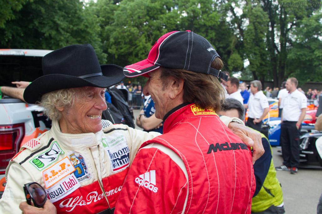 Arturo Merzario and Emerson Fittipaldi    - 2016 Goodwood Festival of Speed