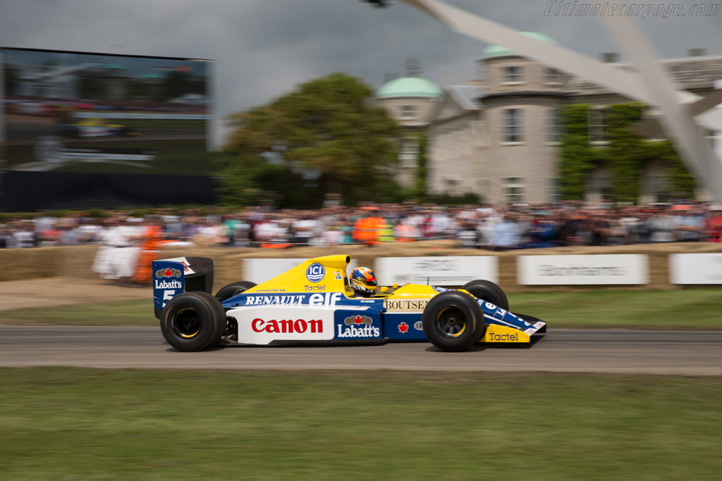 Williams FW13B Renault - Chassis: FW13-08 - Entrant: Williams F1 - Driver: Karun Chandhok  - 2016 Goodwood Festival of Speed