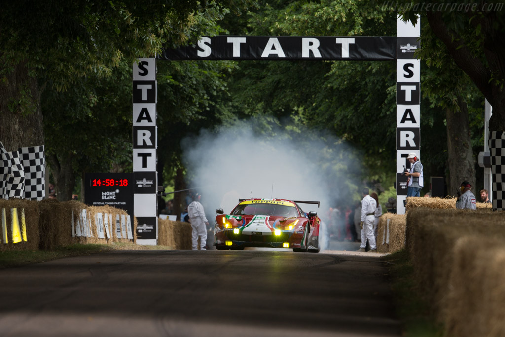 Ferrari 488 GTE - Chassis: 3818 - Entrant: AF Corse - Driver: Allessandro Pier Guidi  - 2017 Goodwood Festival of Speed