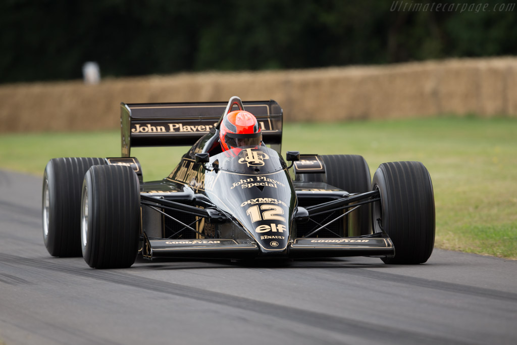 Lotus 97T Renault - Chassis: 97T/2 - Entrant: Classic Team Lotus - Driver: Lee Mowle  - 2017 Goodwood Festival of Speed