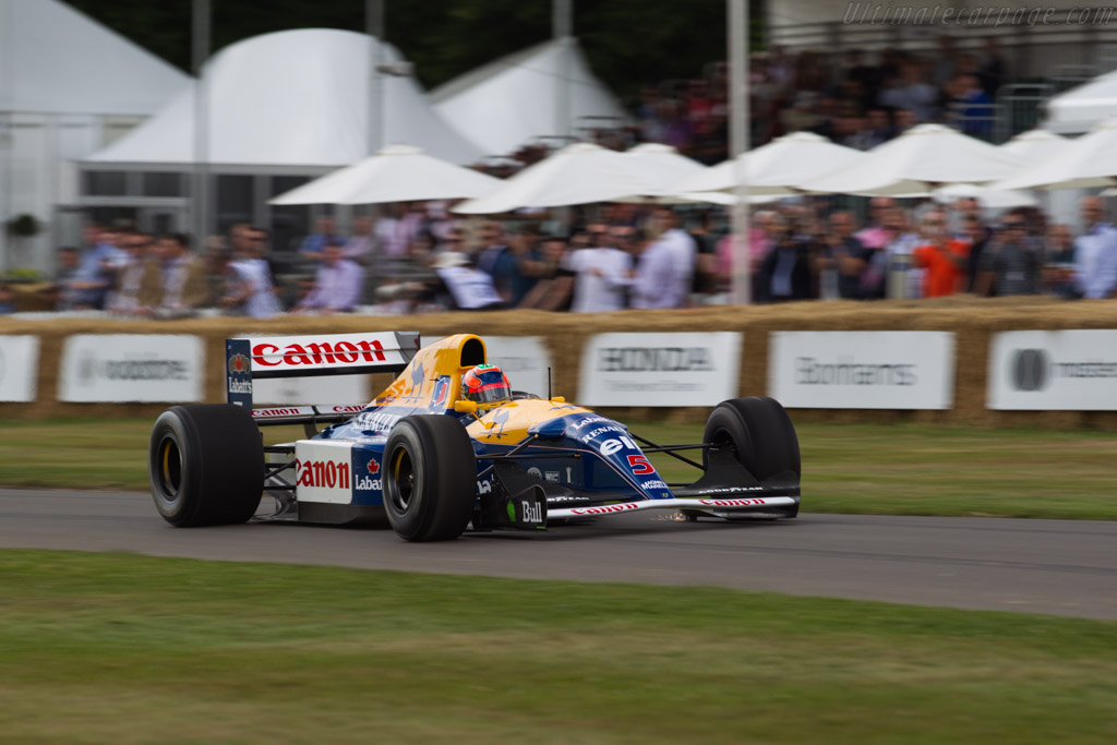 Williams FW14B Renault - Chassis: FW14-6 - Entrant: Williams F1 - Driver: Karun Chandhok  - 2017 Goodwood Festival of Speed