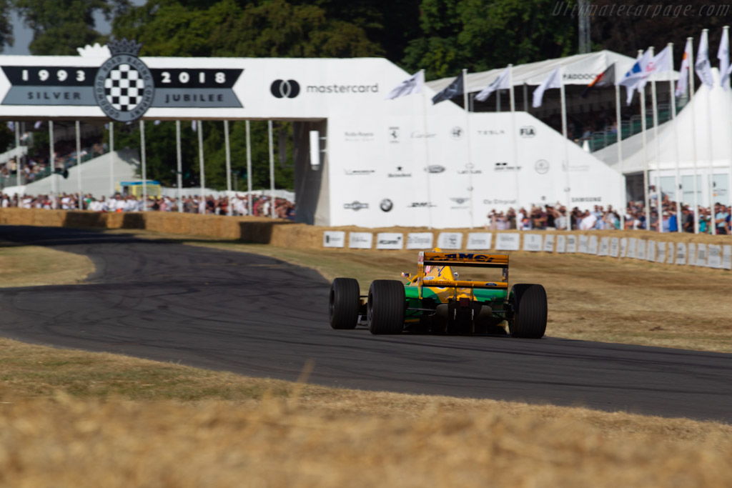 Benetton B192 - Chassis: B192-08 - Entrant: The Force - Driver: Lorina McLaughlin  - 2018 Goodwood Festival of Speed