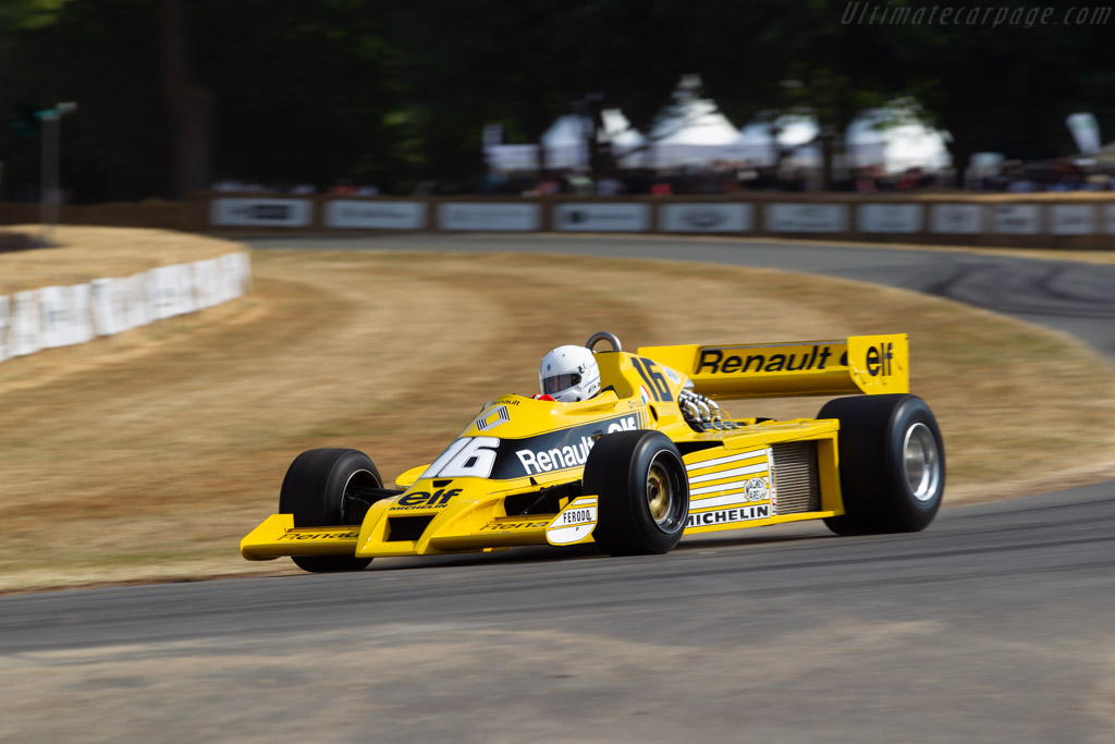 Renault RS01 - Chassis: RS 01/04 - Entrant: Renault Classic - Driver: René Arnoux / Nicolas Navarra  - 2018 Goodwood Festival of Speed