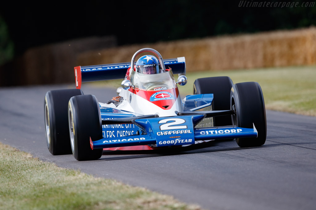 Lola T500 - Chassis: HU2 - Entrant: Indianapolis Speedway Hall of Fame - Driver: Johnny Rutherford - 2019 Goodwood Festival of Speed