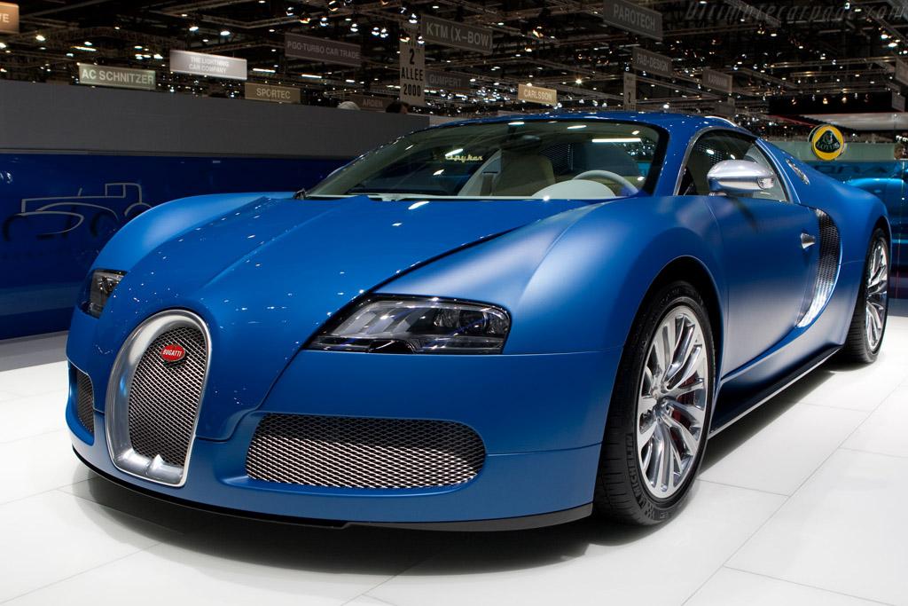 A Blue Bugatti Veyron.