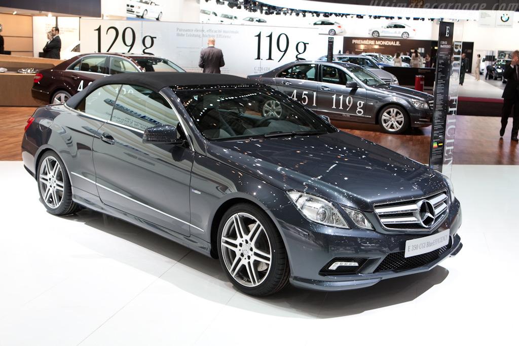 Mercedes-Benz E-Class Cabriolet    - 2010 Geneva International Motor Show
