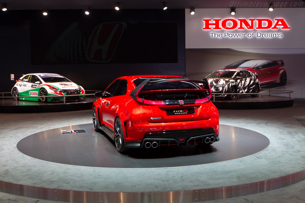 ... Motor Show report - More Honda Civic Type R Concept images