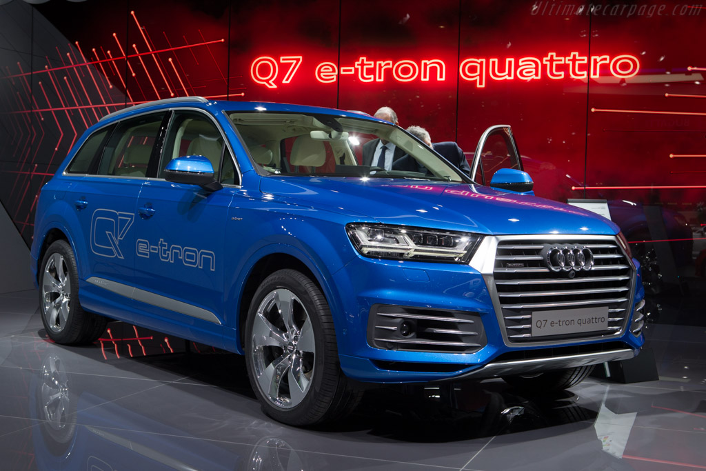 Audi Q7 E Tron Quattro 2015 Geneva International Motor Show