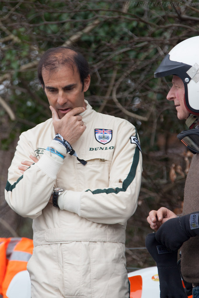 Emanuele Pirro with Julian Majzub    - 2012 Goodwood Preview