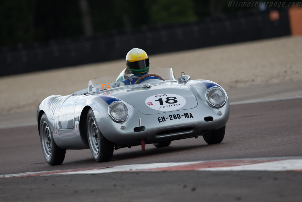 Porsche 550A - Chassis: 550A-0143 - Driver: Claudio Roddaro / Massimo Pedrazzi  - 2017 Grand Prix de l'Age d'Or