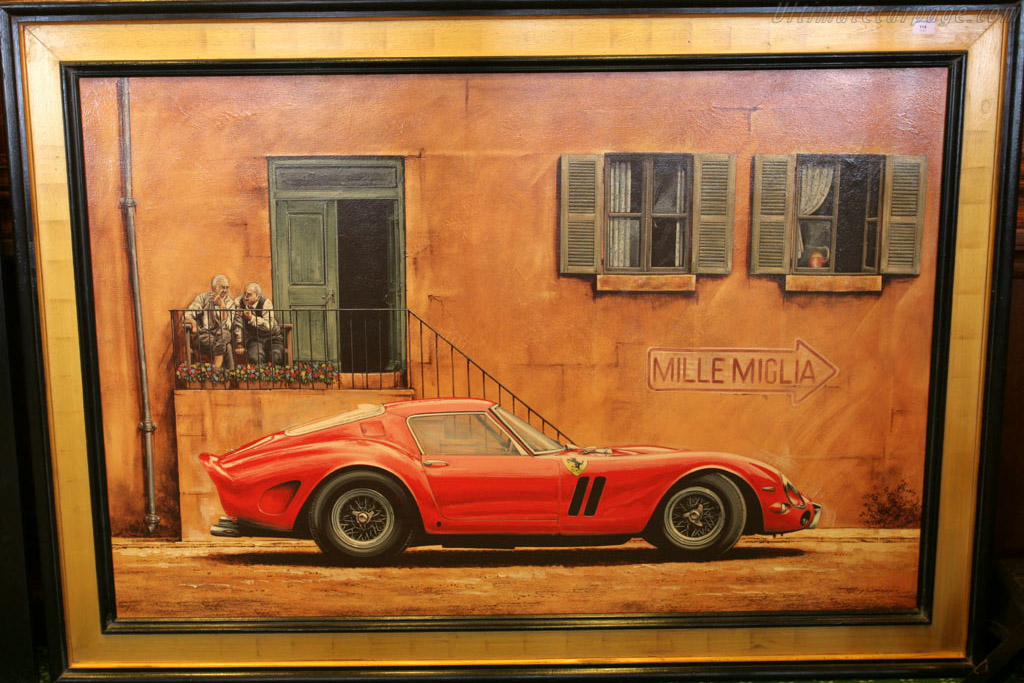 Ferrari 250 GTO in acrylic on canvas    - 2005 Bonhams Gstaad Auction
