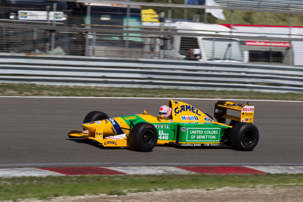 Benetton B192 Cosworth - Chassis: B192-8 - Driver: Lorina McLaughlin  - 2015 Historic Grand Prix Zandvoort