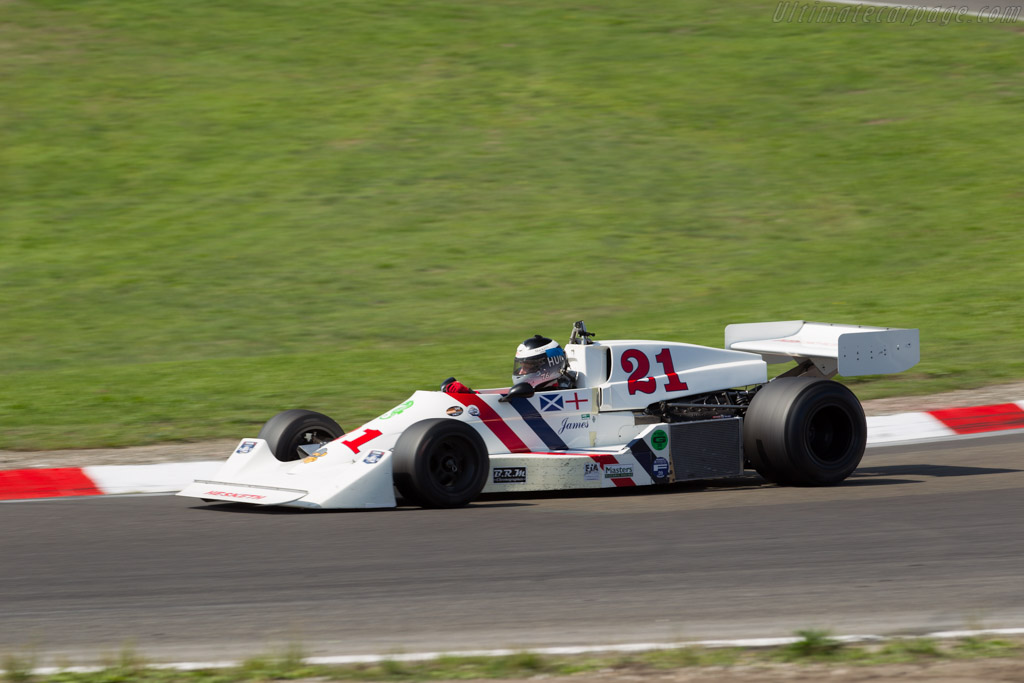 Hesketh 308C Cosworth  - Entrant: Richard Carlino - Driver: Freddie Hunt  - 2015 Historic Grand Prix Zandvoort