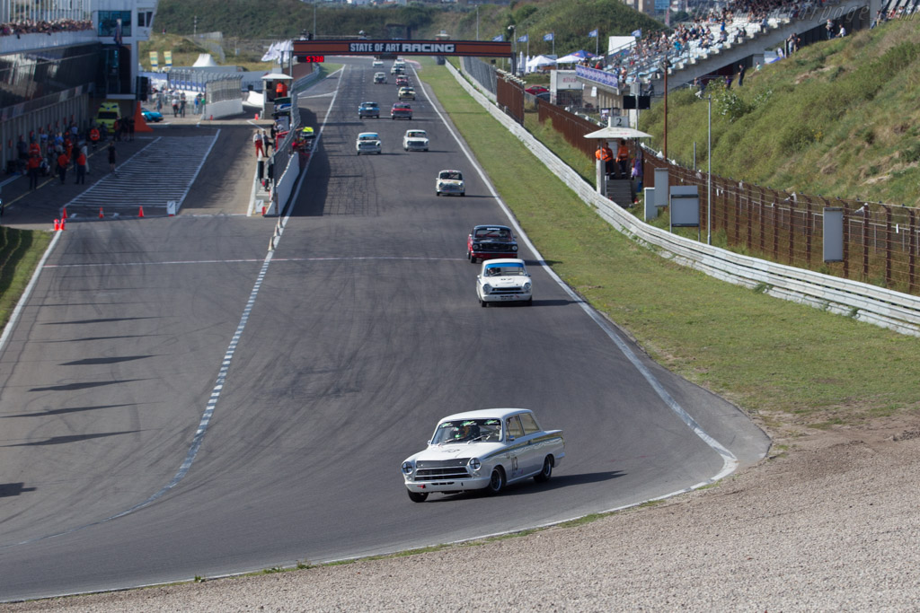Lotus Cortina  - Driver: Michael Gans / Andy Wolfe  - 2016 Historic Grand Prix Zandvoort