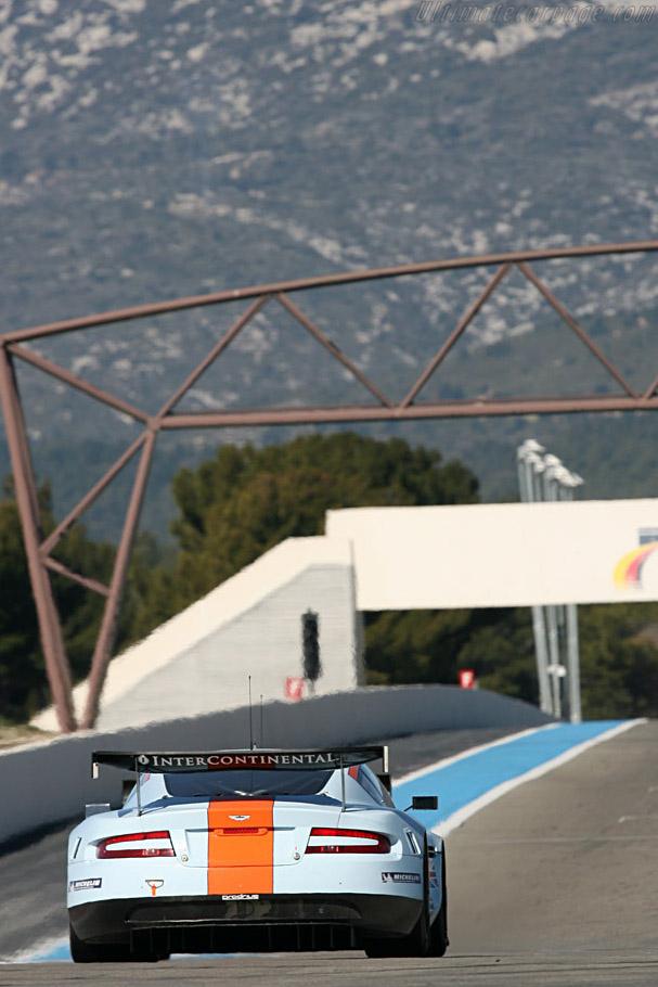 Aston Martin DBR9 - Chassis: DBR9/7 - Entrant: Aston Martin Racing - Driver: Antonio Garcia / Darren Turner / Karl Wendlinger  - 2008 Le Mans Series Preview