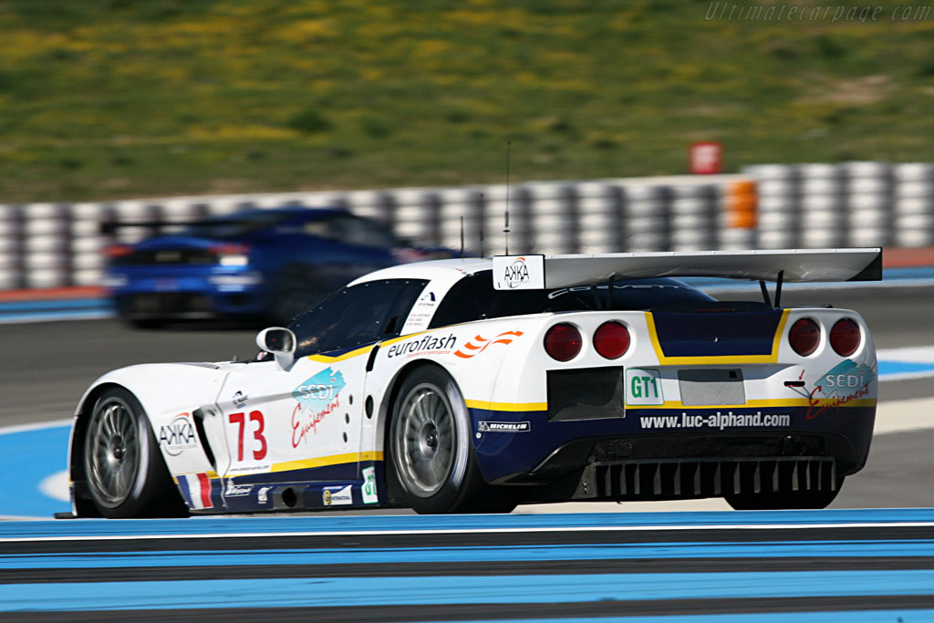 Chevrolet Corvette C6.R - Chassis: 004 - Entrant: Luc Alphand Adventures - Driver: Sebastien Dumez / Jean-Luc Blanchemain / Roland Berville  - 2008 Le Mans Series Preview