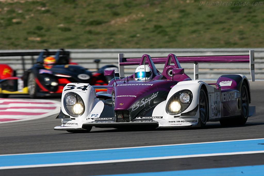 Porsche RS Spyder - Chassis: 9R6 708 - Entrant: Van Merksteijn Motorsport - Driver: Peter van Merksteijn / Jos Verstappen / Jeroen Bleekemolen  - 2008 Le Mans Series Preview
