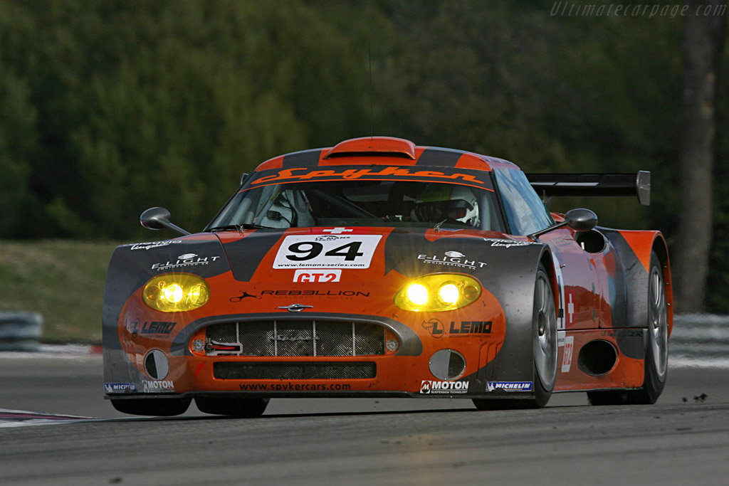 Spyker C8 Spyder GT2R - Chassis: XL9AB01G97Z363193 - Entrant: Speedy Spyker - Driver: Benjamin Leuenberger / Andrea Chiesa / Philip Camandona  - 2008 Le Mans Series Preview