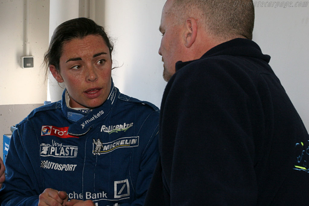 Vanina Ickx and Martin Short    - 2008 Le Mans Series Preview