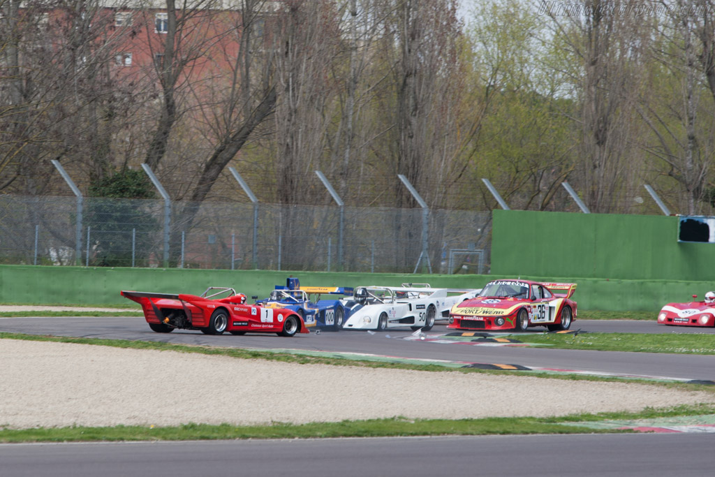 Pole sitter spins off    - 2013 Imola Classic