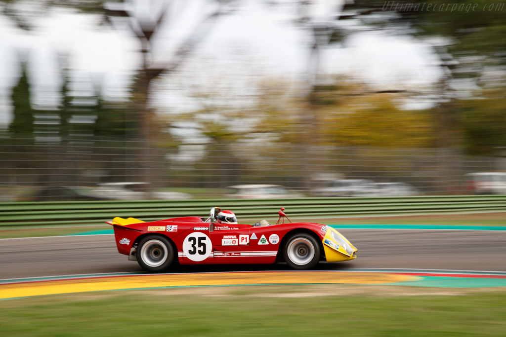 Alfa Romeo T33 / 3 - Chassis: 10580-023 - Driver: Gianluca Rattazzi / Emanuele Pirro  - 2018 Imola Classic