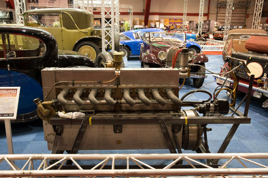 Bugatti Type 41 engine    - 2015 Interclassics Brussels