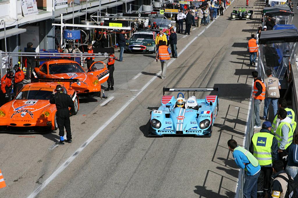 Off they go - Chassis: C60-7 - Entrant: Paul Belmondo Racing  - 2006 Le Mans Series Jarama 1000 km