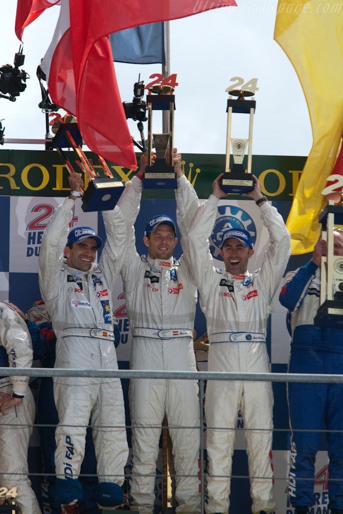 Gene, Wurz and Brabham    - 2009 24 Hours of Le Mans