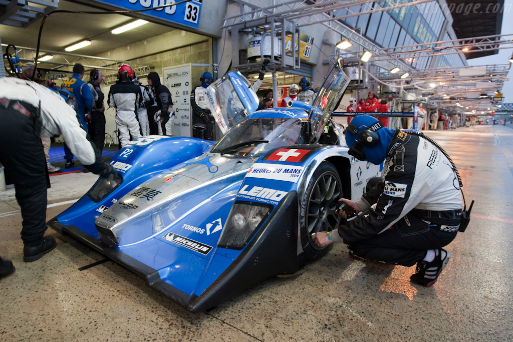 Speedy Sebah pit stops - Chassis: B0880-HU01   - 2009 24 Hours of Le Mans