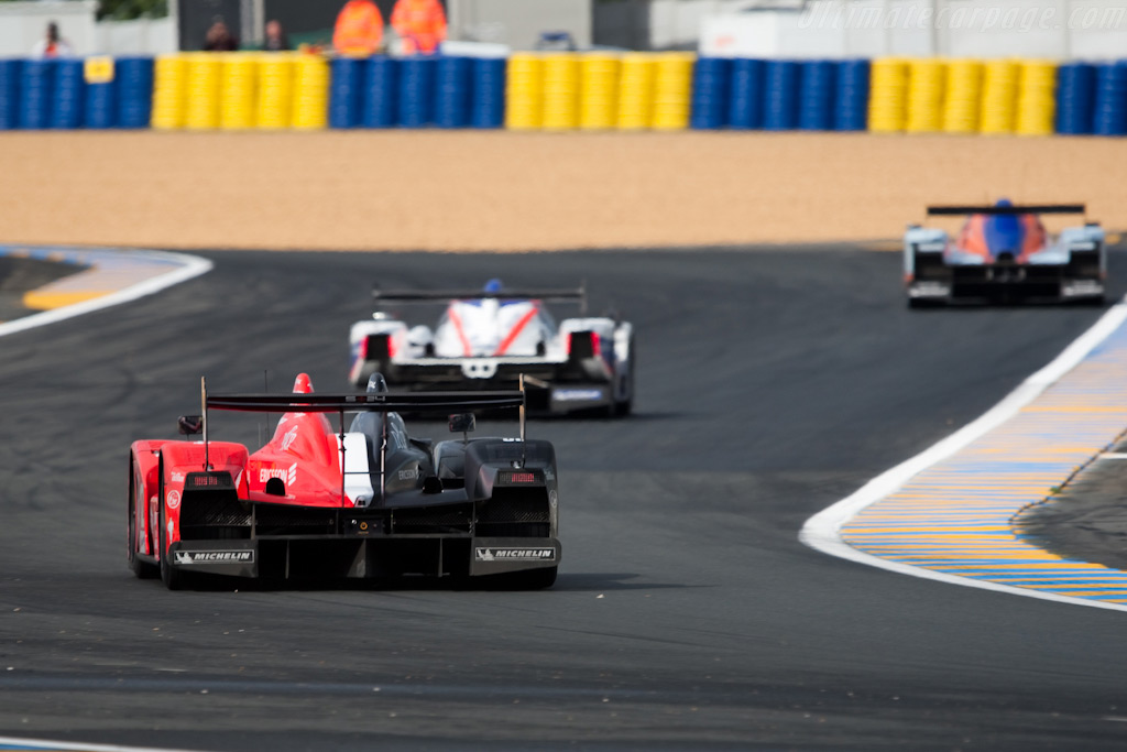 The run up to the Dunlop chicane - Chassis: LC70-11   - 2009 24 Hours of Le Mans