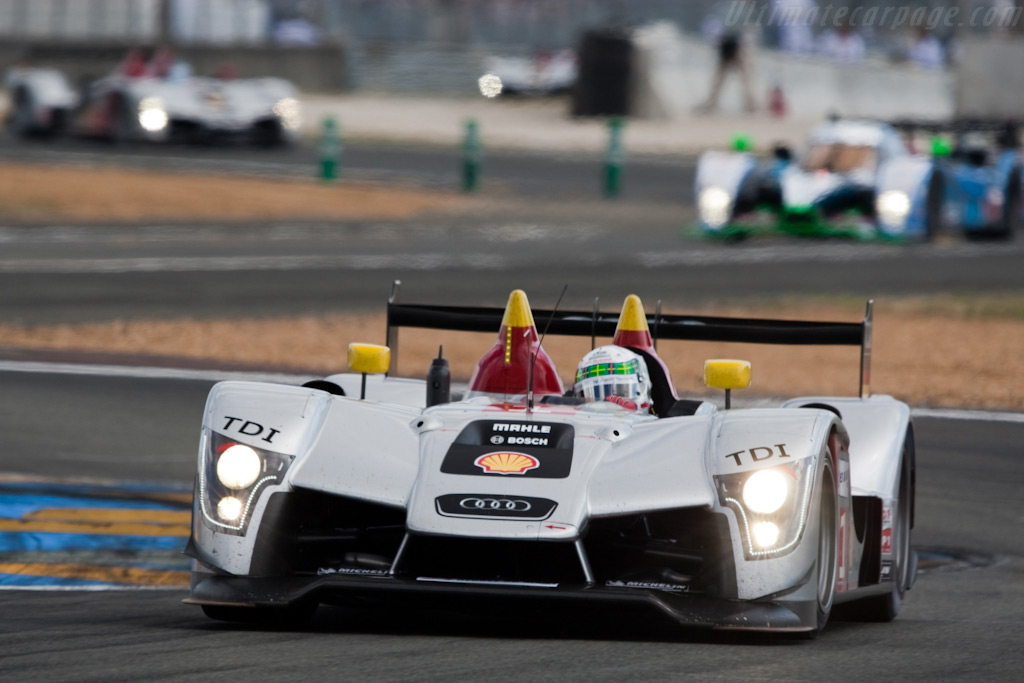 The three Audis and Pesca's Peugeot - Chassis: 105   - 2009 24 Hours of Le Mans
