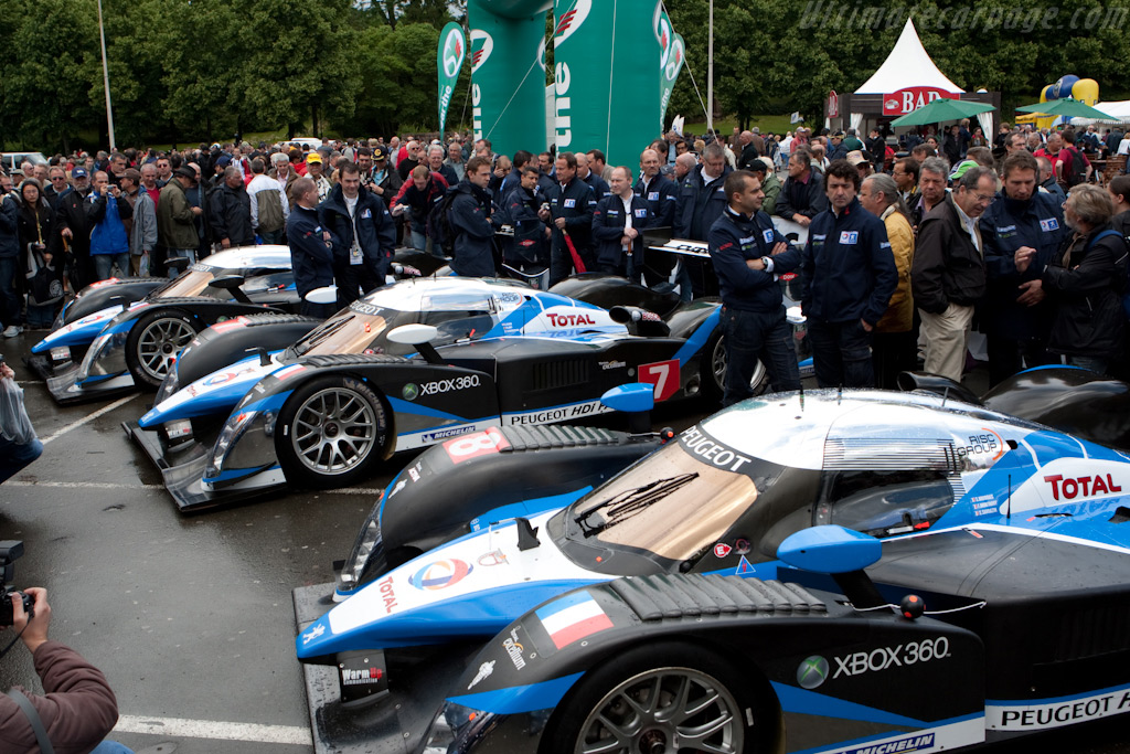 The three Peugeots - Chassis: 908-07   - 2009 24 Hours of Le Mans