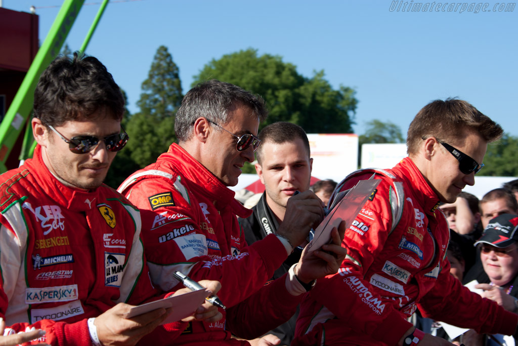 Fisichella, Alesi and Vilander    - 2010 24 Hours of Le Mans