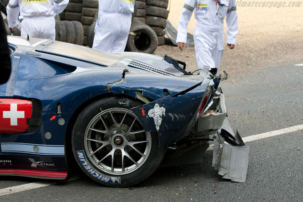 The damage - Chassis: MR10FORDGT1SN001   - 2010 24 Hours of Le Mans
