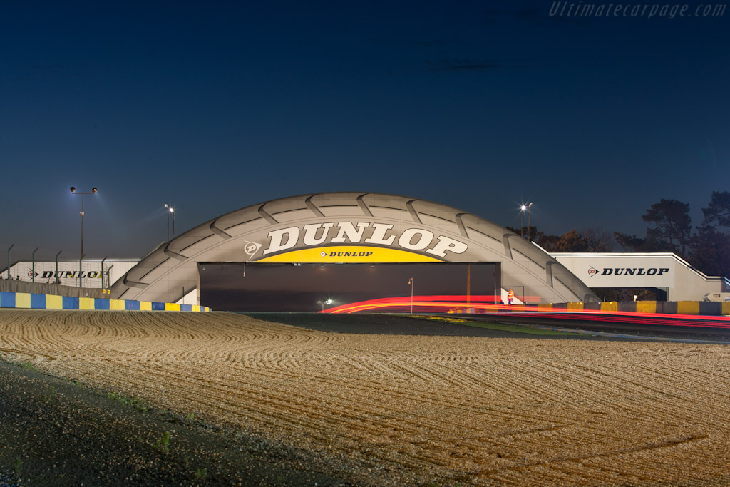 Dunlop bridge at night    - 2011 24 Hours of Le Mans