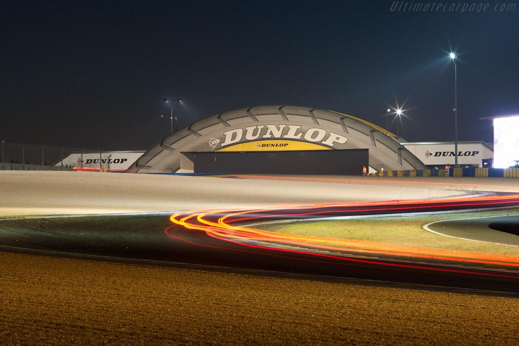 Dunlop bridge at night   - 2011 24 Hours of Le Mans