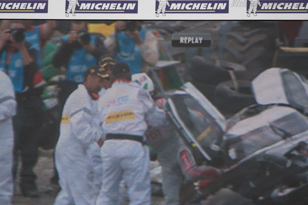 McNish climbed out   - 2011 24 Hours of Le Mans