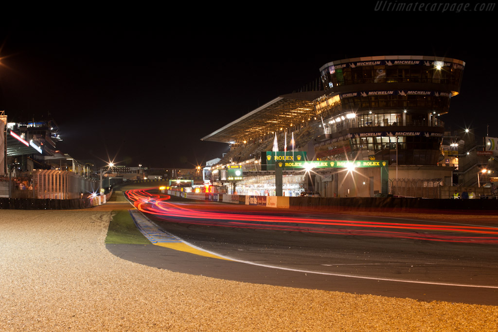 Onto the straight    - 2011 24 Hours of Le Mans