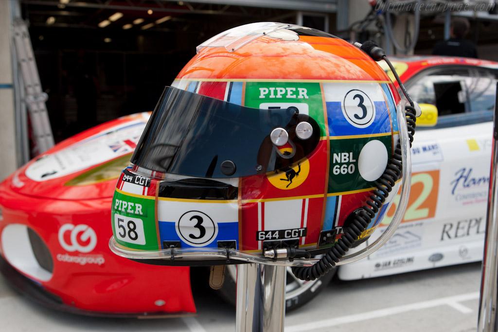 Shaun Lynn's helmet    - 2011 24 Hours of Le Mans